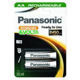 PANASONIC 1x2 Panasonic Akku NiMH Mignon AA 2450 mAh Rechargeable Evolta (P6E/2B2450)