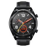 Huawei Watch GT schwarz mit Silikonarmband in Graphite Black